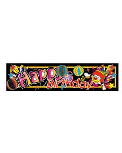 8' Birthday Clown Tissue Banner