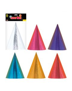 Laser Party Hats 6ct