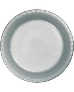 "Metallic Silver 10"" Plates 20 C"