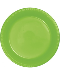 """Lime Green 10"""" Plates 20ct"""
