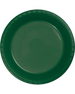 "Hunter Green 10"" Plates 20C"