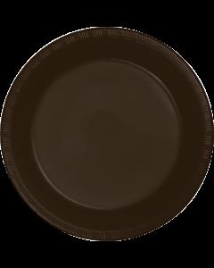 "Chocolate 10"" Plates 20ct"