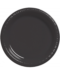 "Black 10"" Plates 20ct"
