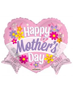 """18"""" Mother's Day Heart & Banner"""