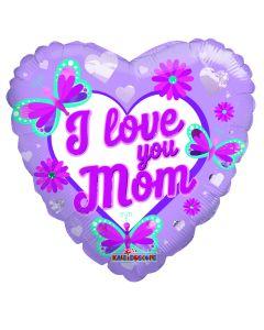 "18"" I Love Mom Butterflies"