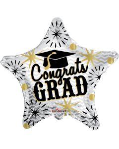 "36"" Congrats Grad Silver & Gold"