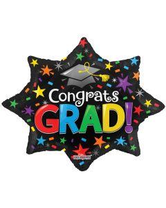 """28"""" Congrats Grad Burst of Stars"""
