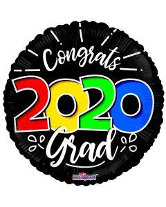"18"" Class of 2020 Multi-Color Black"