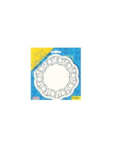 "5"" White Round Doilies 40ct"