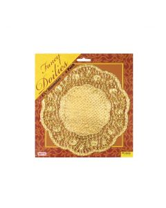 "8"" Gold Round Doilies 6ct"