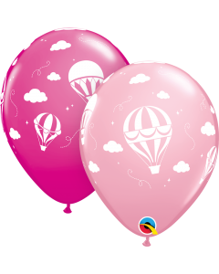 "11"" Hot Air Balloons Pink 50ct"