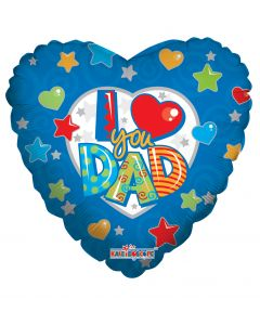 "9"" I Love You Dad Inflated with Cup & Stick"