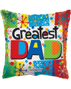 "9"" Greatest Dad Multicolor"