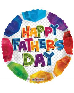 """18"""" Colorful Father's Day"""