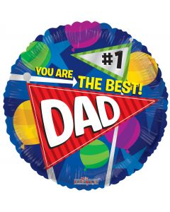 "18"" Best Dad Balloons"