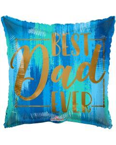 """18"""" Best Dad Gold Script"""