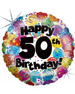 """18"""" Party Balloons B'day 50 Pkg"""