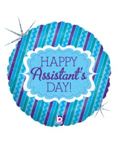 "18"" Happy Assistant's Day Blue"