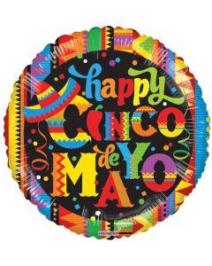"""18"""" Happy Cinco De Mayo Festive"""