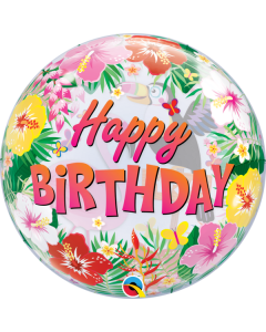 """22"""" Tropical B'day Party Bubble"""