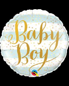 """18"""" Baby Boy Stripes & Script Pkg"""