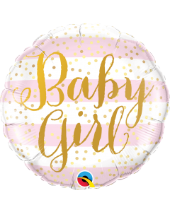 """18"""" Baby Girl Stripes & Script Pkg"""