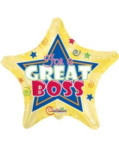 """9"""" For A Great Boss Inflated with Cup & Stick"""
