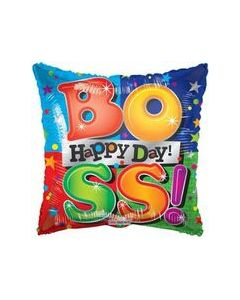 "9"" Boss's Day Colors Inflated with Cup & Stick"