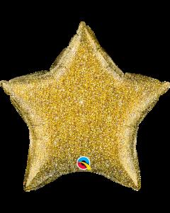 """20"""" Gold Glittergraphic Star"""