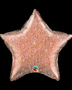 "20"" Rose Gold Glittergraphic Star"