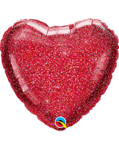 "18"" Red Glittergraphic Heart"