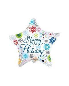 "18"" Happy Holidays Snowflakes"