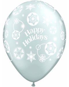 "11"" Happy Holidays Snowflakes 25ct"