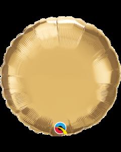 "18""Gold Chrome Round"