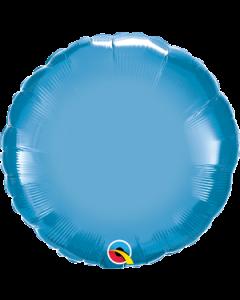 """18""""Blue Chrome Round"""