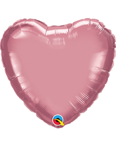 "18""Mauve Chrome Heart"