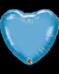 "18""Blue Chrome Heart"