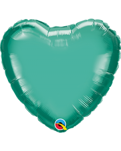 "18""Green Chrome Heart"