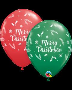 "11"" Merry Christmas Evergreens 50ct"