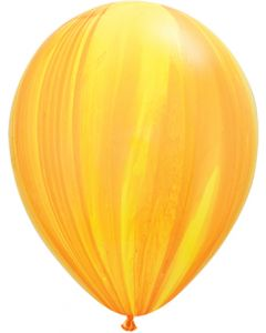 "11"" Yellow Orange Agates 25ct"