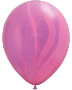 """11"""" Pink Violet Agates 25Ct"""