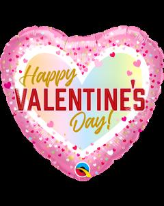 """18"""" Ombre Confetti Valentine  Pkg"""
