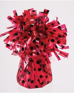 Red w/ Black Dots Balloon Wgt