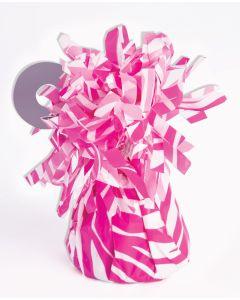 Pink Zebra Stripe Balloon Wgt