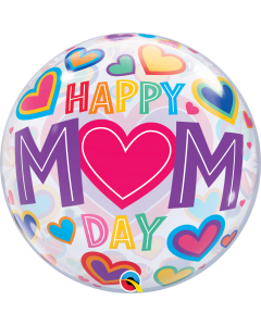 "22""  Happy Mom Day Hearts"