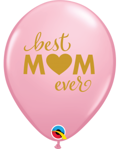 "11"" Simply Best Mom Pink 50ct"