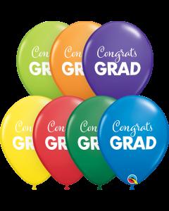 """11"""" Simply Congrats Grad Carnival Asst 50ct"""