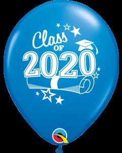 """11"""" Class of 2020 Dk. Blue 50c"""