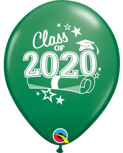 "11"" Class of 2020 Green 50c"