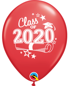 "11"" Class of 2020 Red 50ct"